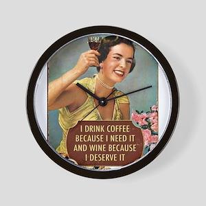 Drink Wine Wall Clock