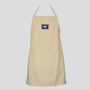 Wyoming flag BBQ Apron