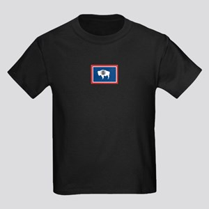 Wyoming flag Kids Dark T-Shirt