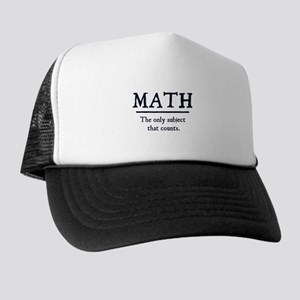 Math The Only Subject That Counts Trucker Hat