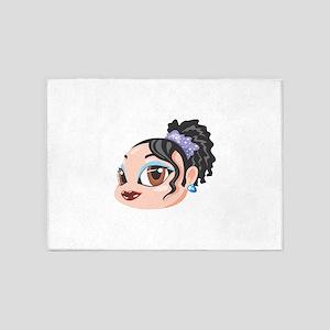 Girl Woman Female Head Face 5'x7'Area Rug
