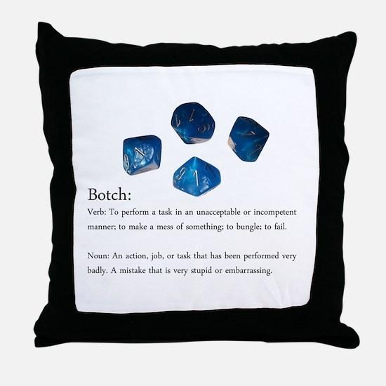 D10 Botch Throw Pillow