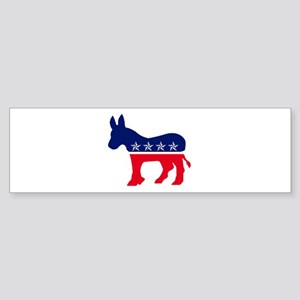 Democrat Donkey Red White and Blue with Stars Bump