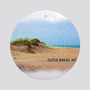 Outer Banks Dune, NC Round Ornament