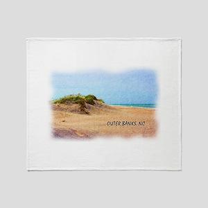 Outer Banks Dune, NC Throw Blanket