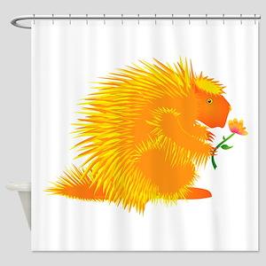 Pointie Porcupine Shower Curtain