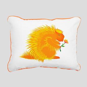 Pointie Porcupine Rectangular Canvas Pillow