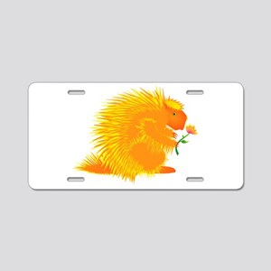 Pointie Porcupine Aluminum License Plate