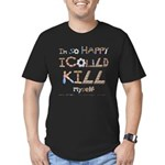 Kill Myself Men's Fitted T-Shirt (dark)
