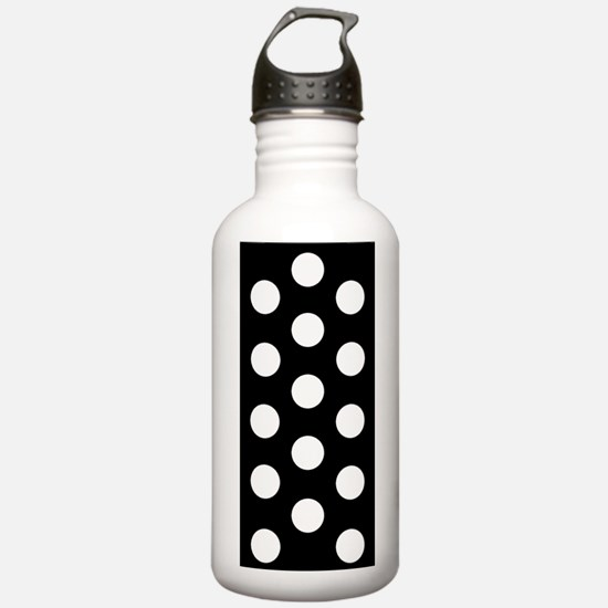 Black White Polka Dot Togetherness Designer Water