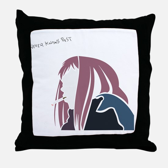 Never knows Best Throw Pillow