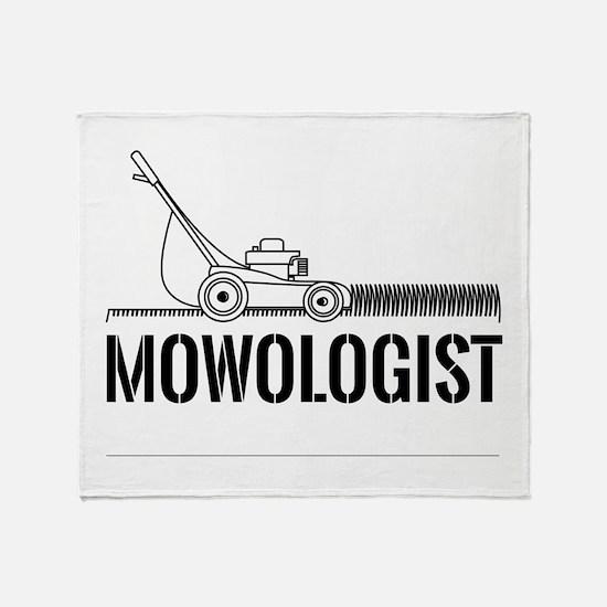 Mowologist Throw Blanket