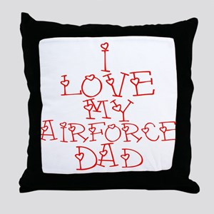 My Airforce Dad Throw Pillow
