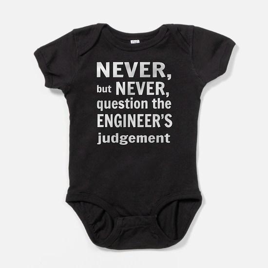 Never but never engineer Baby Bodysuit