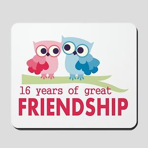 16th Wedding Anniversary Owls Mousepad