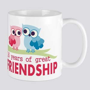16th Wedding Anniversary Owls Mug