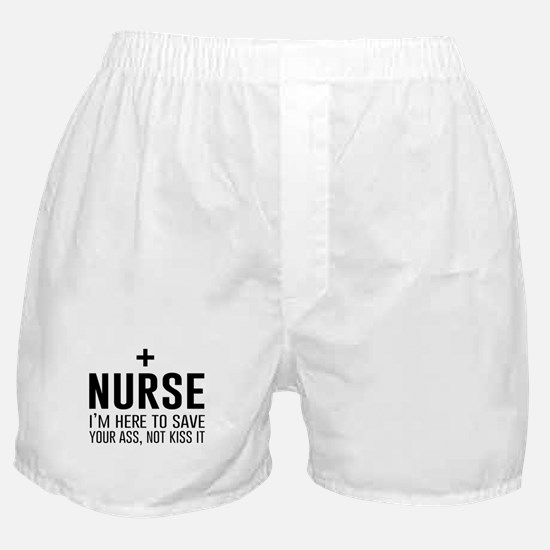 Nurse here to save your ass Boxer Shorts