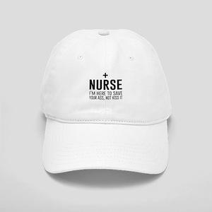 Nurse here to save your ass Baseball Cap