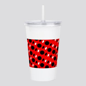 Red Black Shapes For Acrylic Double-Wall Tumbler