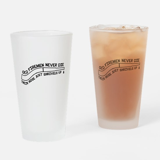Old firemen never die Drinking Glass