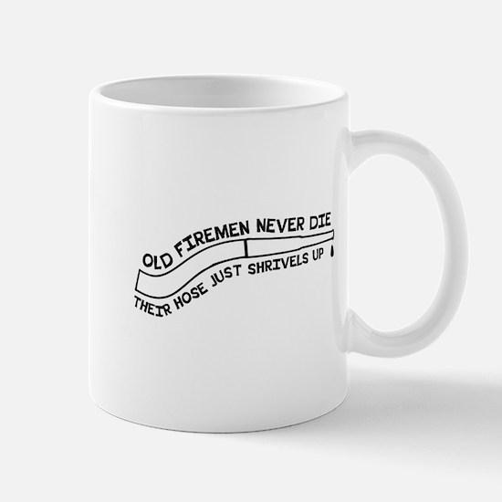 Old firemen never die Mugs