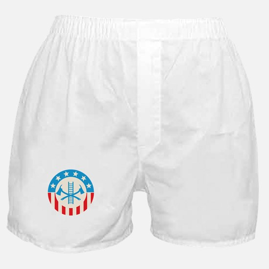 Patriotic firefighter Boxer Shorts