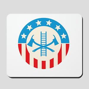 Patriotic firefighter Mousepad