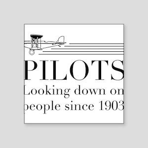 Pilots looking down people Sticker