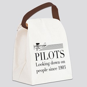 Pilots looking down people Canvas Lunch Bag