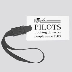 Pilots looking down people Luggage Tag