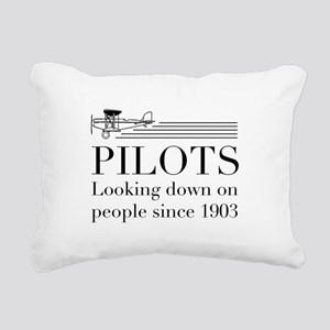 Pilots looking down people Rectangular Canvas Pill