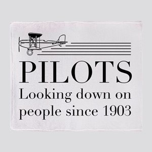 Pilots looking down people Throw Blanket