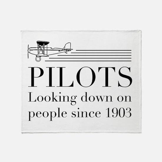 Pilots looking down people Throw Blanket