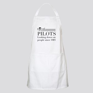 Pilots looking down people Apron