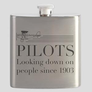 Pilots looking down people Flask