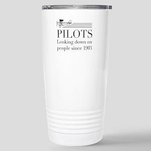 Pilots looking down people Travel Mug