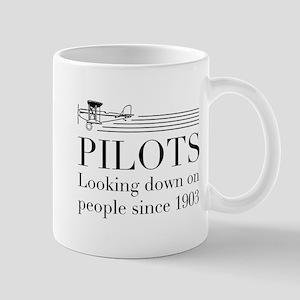 Pilots looking down people Mugs
