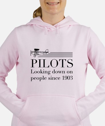 Pilots looking down people Women's Hooded Sweatshi