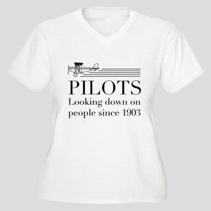 Pilots looking down people Plus Size T-Shirt