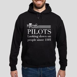 Pilots looking down people Hoodie