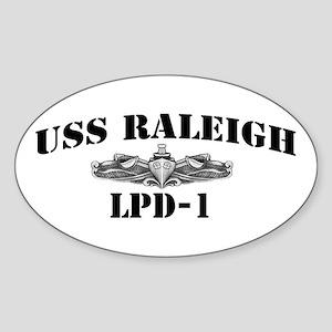 USS RALEIGH Sticker (Oval)