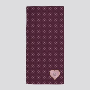 Hearts and Stars on Port Beach Towel