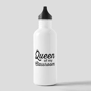 Queen of my classroom Water Bottle