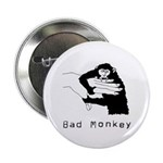 """Bad Monkey 2.25"""" Button (10 pack)"""