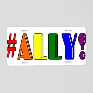 Ally Aluminum License Plate
