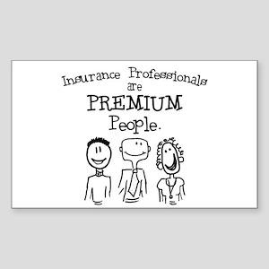 """Premium People"" Rectangle Sticker"