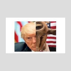 President Trump and WhatsUpGOAT facial closeup Wal