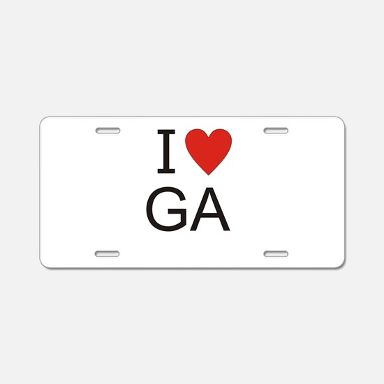 Cute Ga Aluminum License Plate