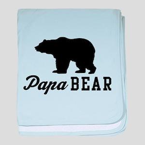 Papa bear baby blanket