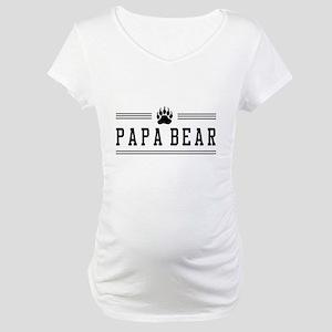 Papa bear Maternity T-Shirt